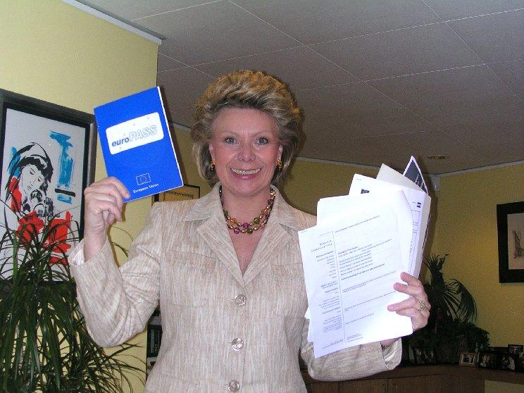Presentation of Europass by Viviane Reding, Member of the EC