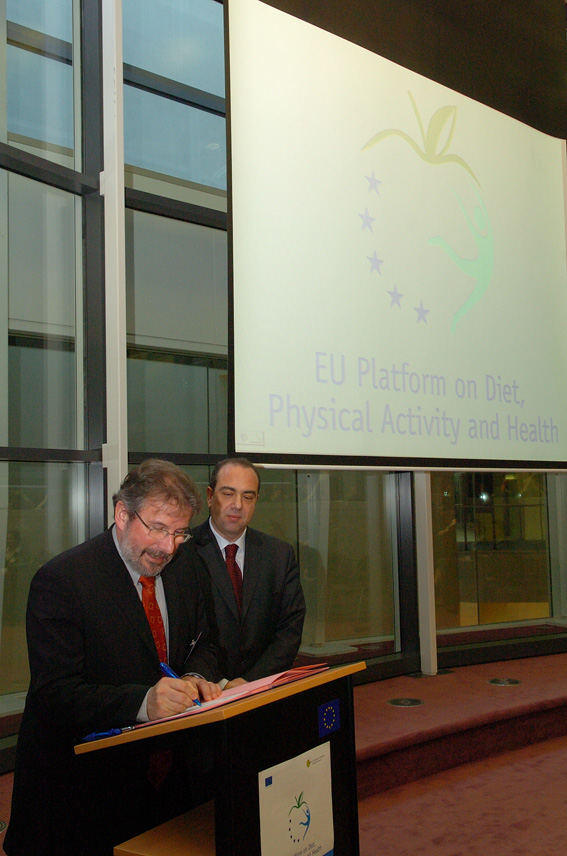 Launch of the EU Platform on Diet, Physical Activity and Health by Markos Kyprianou, Member of the EC