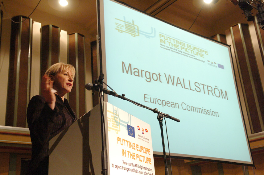 Margot Wallström, Vice-President of the EC, at the