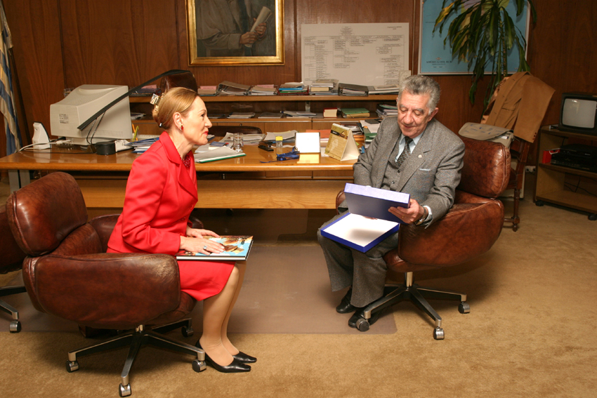 Visite de Benita Ferrero-Waldner, membre de la CE, en Uruguay