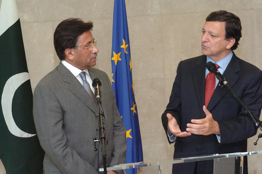 Visite de Pervez Musharraf, président de Pakistan, à la CE