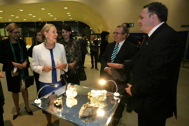 Opening of theAdornment and History: Ancient Georgia, Crossroads of Europe and Asia exhibition by Benita Ferrero-Waldner and Giorgi Baramidze