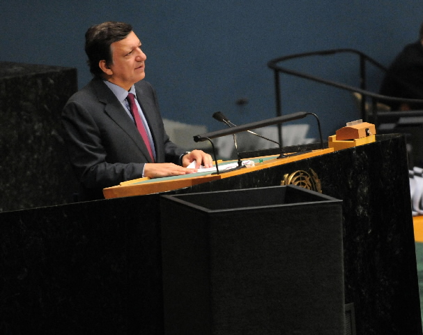 Visit by José Manuel Barroso, President of the EC, Benita Ferrero-Waldner and Louis Michel, Members of the EC, to the United Nations