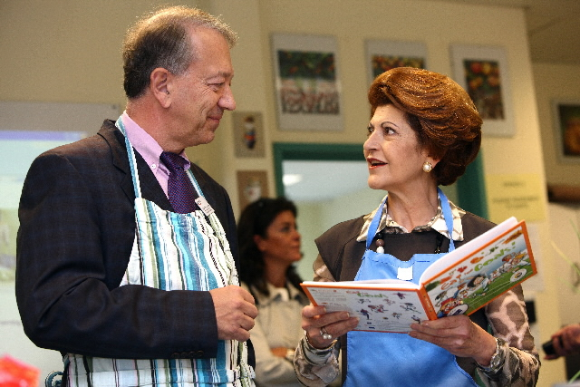 Launch of the book of recipies aimed at children titled  Eat for Goals! by Androulla Vassiliou, Member of the EC