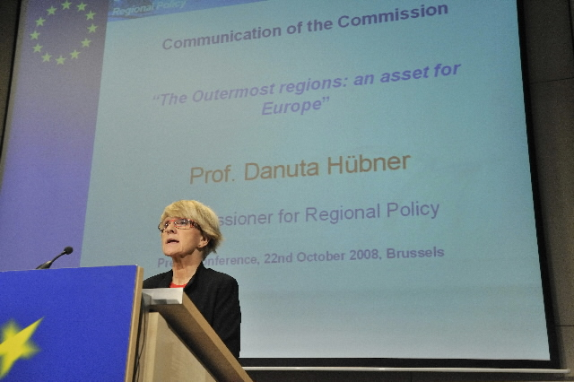 Press conference by Danuta Hübner, Member of the EC, on the communication on ultraperipheric regions