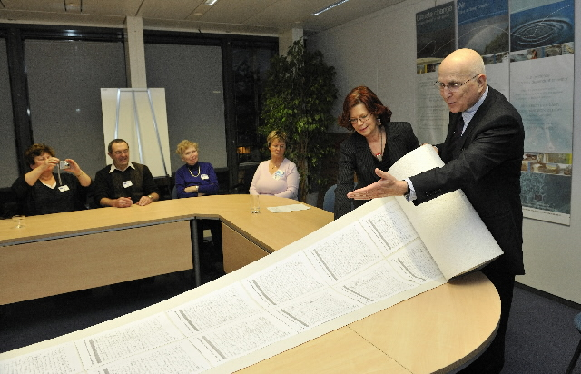 Presentation of a petition on climate by a group of German ecologist citizens to Stavros Dimas, Member of the EC