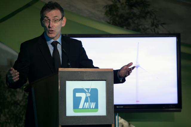 Inauguration of the WindVision wind park in Estinnes (Belgium) by Andris Piebalgs, Member of the EC