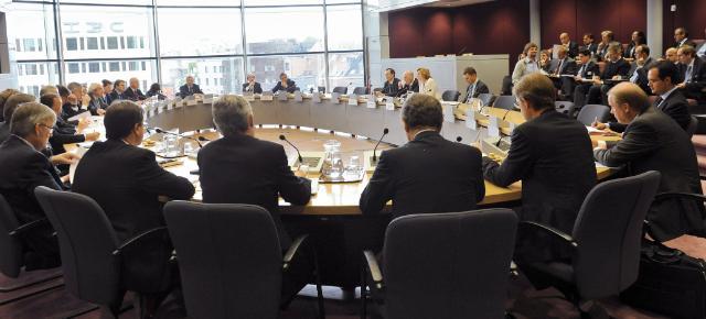 Visite de chefs d'entreprise européens à la CE