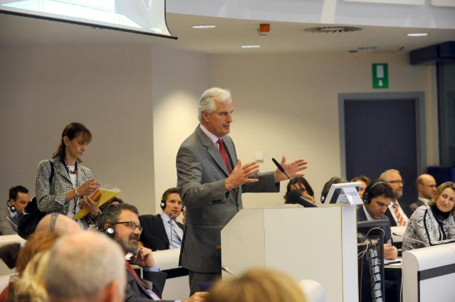 Participation of Michel Barnier, Member of the EC, at the conference on how European Company Statute works