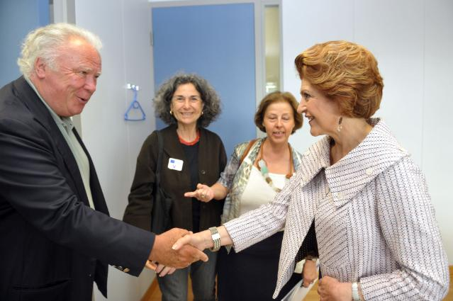 Visit of Mirella Stampa Barracco, Founding Member and President of the Naples Ninety-Nine Foundation, to the EC