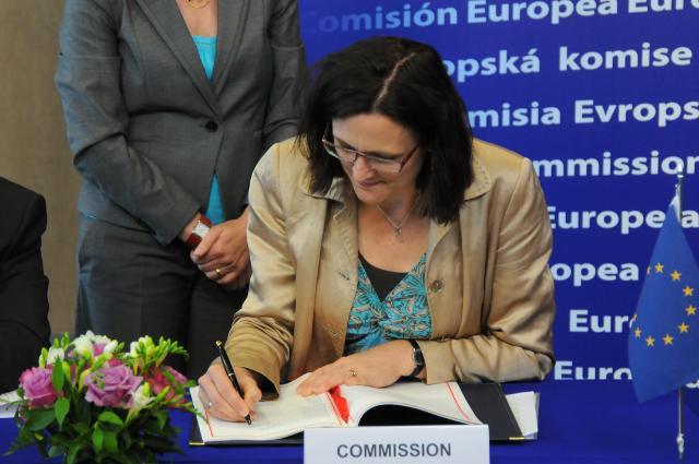 Signature of a visa facilitation agreement between the EU and Georgia
