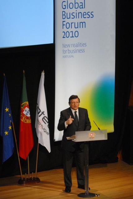 Participation de José Manuel Barroso, président de la CE, au COTEC Global Business Forum 2010