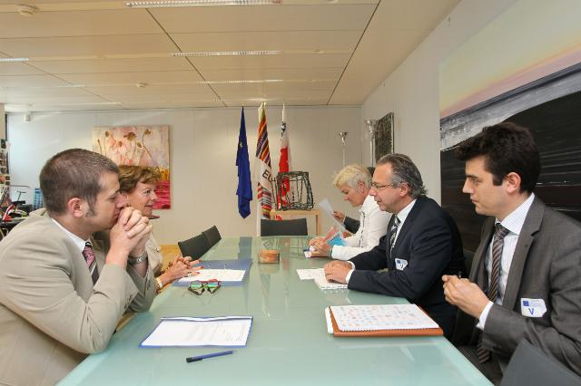 Visit of a delegation of the European Broadcasting Union (EBU), to the EC