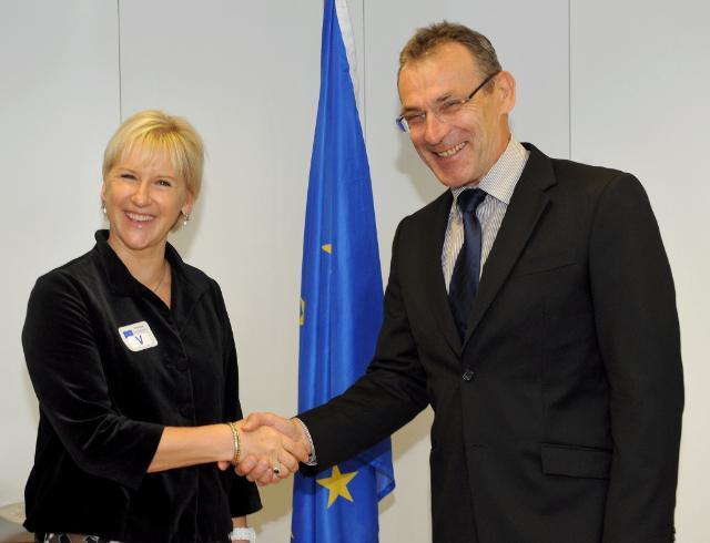 Visite de Margot Wallström, ancienne membre de la CE et Représentante spéciale du Secrétaire général de l'ONU pour la violence sexuelle dans les conflits armés, à la CE