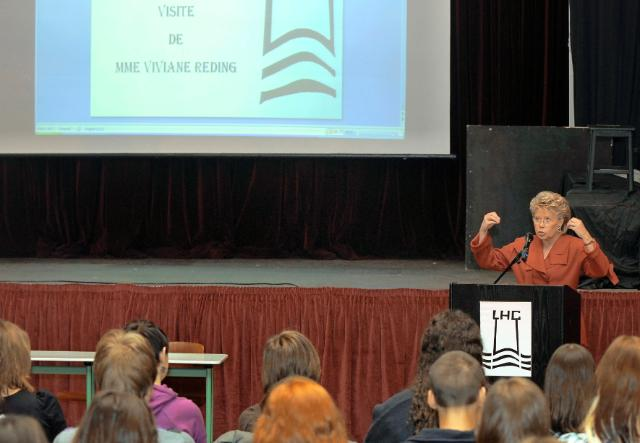 Participation of Viviane Reding, Vice-President of the EC, at the EU Back to School programme
