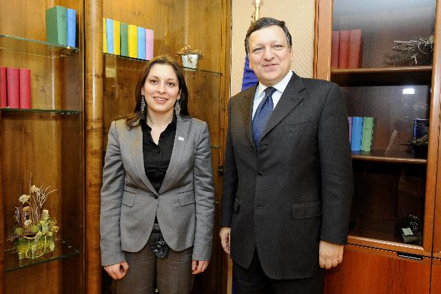 Meeting between Lívia Járóka, Vice-Chairwoman of the Committee on Women's Rights and Gender Equality of the EP, and José Manuel Barroso, President of the EC