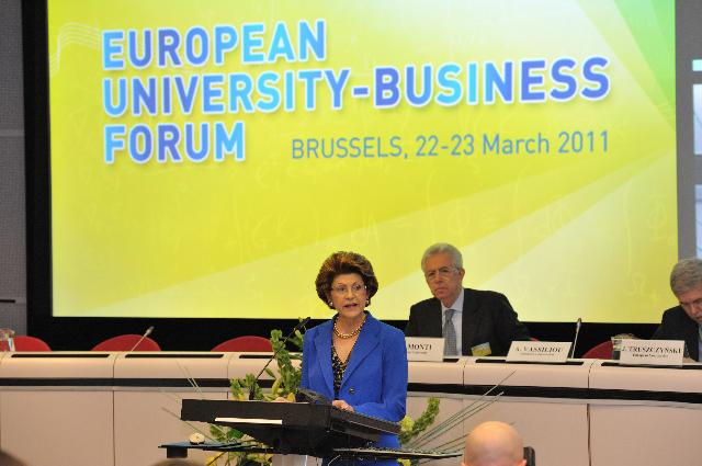 Participation of Androulla Vassiliou, Member of the EC, at the 4th edition of the European University-Business Forum