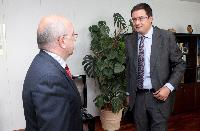 Visit of Óscar López, Secretary General of the socialist party of Castilla y León, to the EC