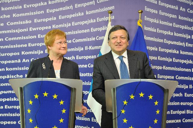 Visit of Tarja Halonen, President of Finland, to the EC