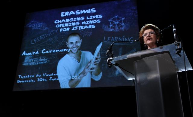 Participation of Androulla Vassiliou, Member of the EC, at the awards ceremony for the 25th anniversary of the Erasmus programme