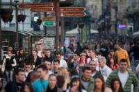 Belgrade's main pedestrian street Knez Mihailova