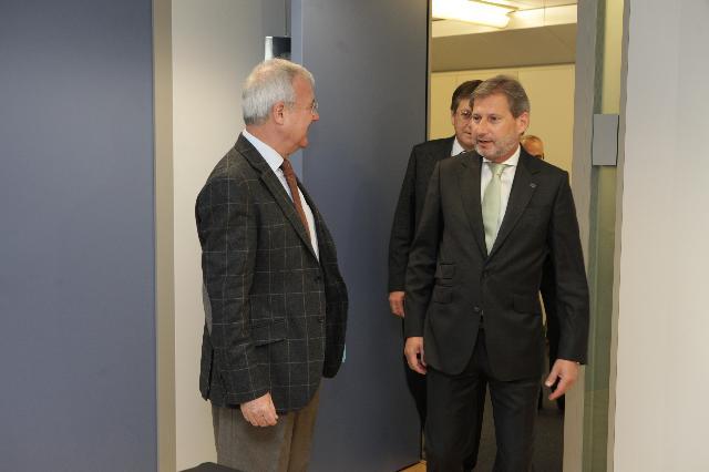 Visite de Ramón Luis Valcárcel Siso, président du gouvernement régional de Murcie et Premier vice-président du Comité des régions, à la CE