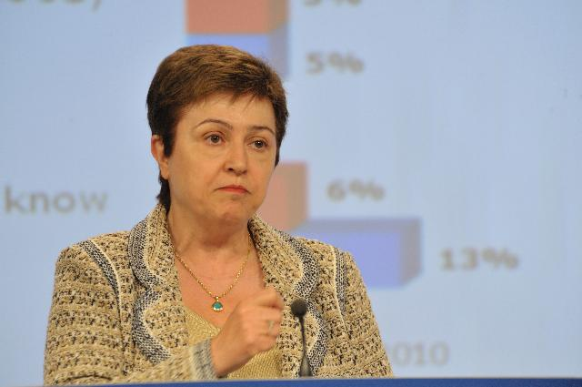 Press conference by Kristalina Georgieva, Member of the EC, on the Eurobarometer on humanitarian aid and civil protection