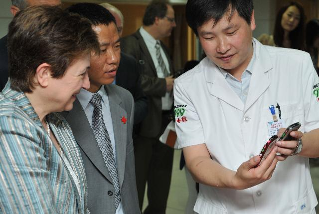 Visite de Kristalina Georgieva, membre de la CE, en Chine