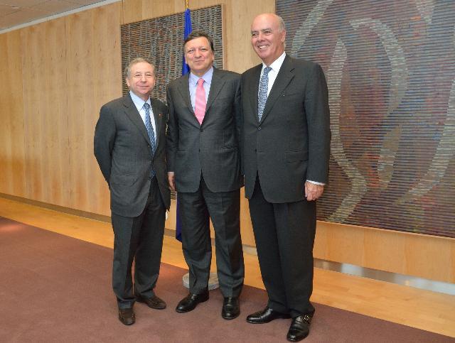 Visit of Jean Todt, President of the Fédération internationale de l'Automobile, to the EC