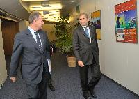 Visit of Mihai Nicolae Tănăsescu, Vice-President and Member of the Management Committee of the EIB, to the EC