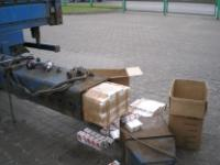 "LITHUANIA: 2326 packets of Russian cigarettes (""West"") hidden in the towline (the part which connects to the trailer) of a cargo automobile"