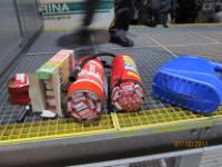 SLOVENIA: Smuggled cigarettes hidden in fire extinguishers, in jerricans, etc, 2011