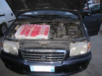 SLOVENIA: Smuggled cigarettes hidden in a motor, 2012