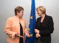 Visite de Yoka Brandt, directrice générale adjointe d'Unicef pour les Affaires extérieures, à la CE