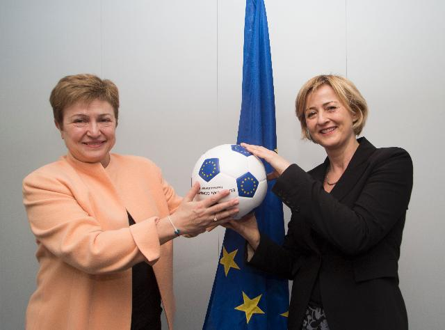 Visit of Yoka Brandt, Deputy Executive Director for External Affairs of Unicef, to the EC
