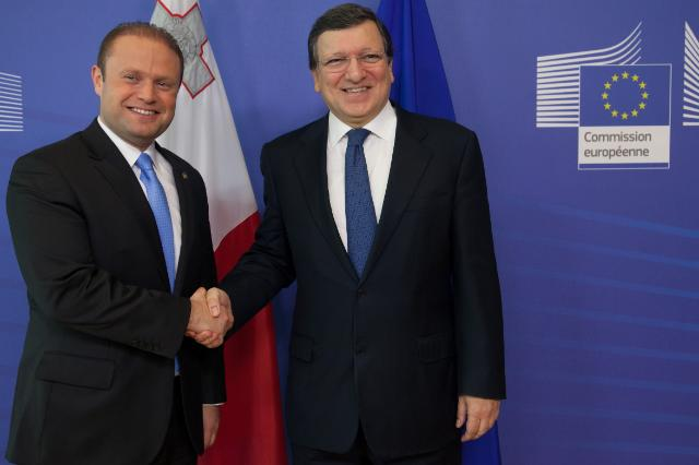 Visite de Joseph Muscat, Premier ministre maltais, à la CE