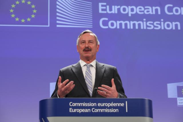 Press conference by Siim Kallas, Vice-President of the EC, on the new EU rules for safer and more environmental lorries