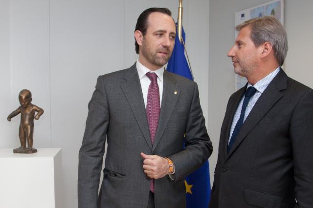 Visite de José Ramón Bauzá Díaz, président des Iles baléares, à la CE