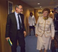Visit of Vaira Vīķe-Freiberga and Pieter de Baan, Members of the Trust Fund for Victims at the International Criminal Court, to the EC
