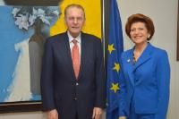 Visit of Jacques Rogge, President of the IOC, to the EC