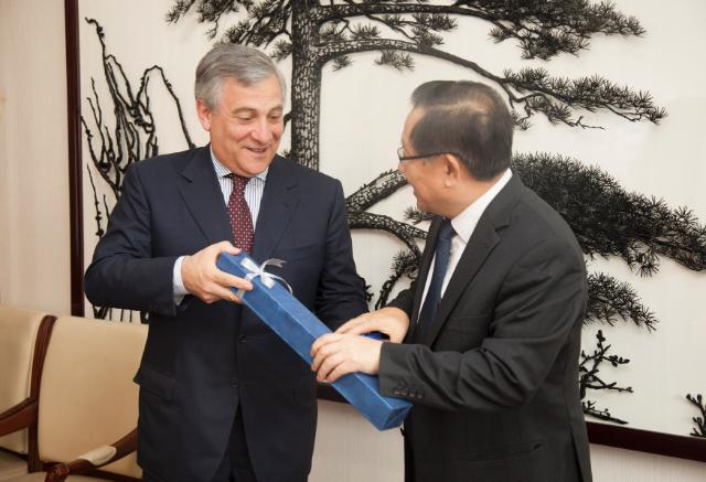 Visit of Antonio Tajani, Vice-President of the EC, and Janez Potočnik, Member of the EC, to China