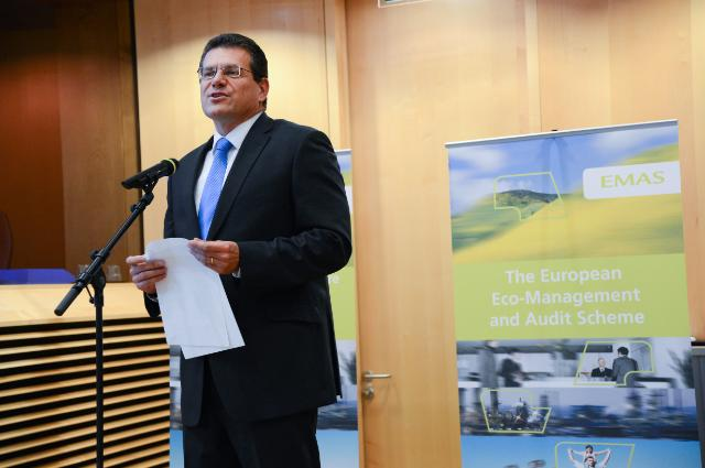 'Green Commission EMAS' 2013 awards ceremony, with the participation of Maroš Šefčovič, Vice-President of the EC