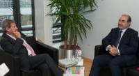 Visit of Edmond Haxhinasto, Albanian Minister for Transport and Infrastructure, to the EC