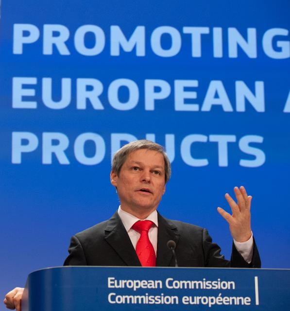 Conférence de presse de Dacian Cioloş, membre de la CE, sur le projet de réforme de la politique d'information et de promotion des produits agricoles et alimentaires européens