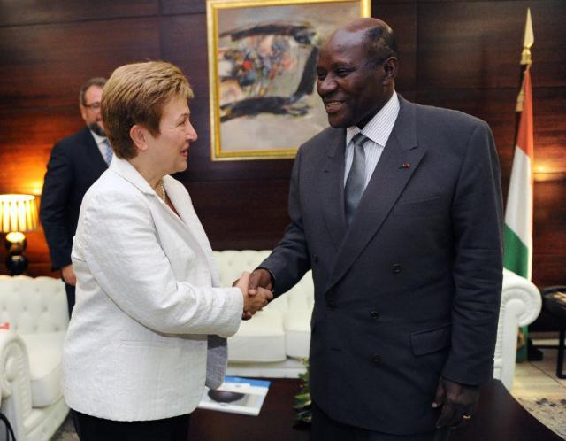 Visite de Kristalina Georgieva, membre de la CE, en Côte d'Ivoire