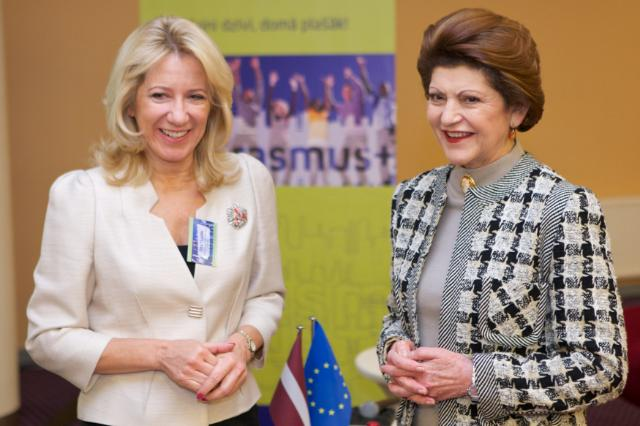 Visit of Androulla Vassiliou, Member of the EC, to Riga for the launch of the European Capital of Culture and Erasmus+ programme