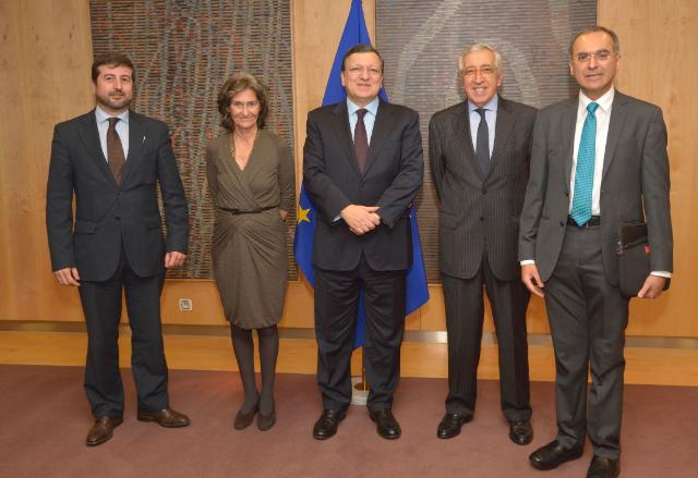 Visit of Artur Santos Silva, President of the Board of Trustees of the Calouste Gulbenkian Foundation, to the EC