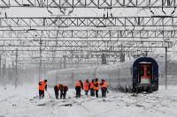 Disturbances in European transport due to snow
