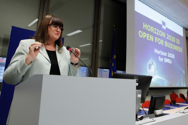 Participation de Máire Geoghegan-Quinn, membre de la CE, à la conférence Horizon 2020 pour les PME 'Horizon 2020 is open for business'