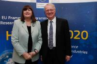 Participation of Máire Geoghegan-Quinn, Member of the EC, at the Horizon 2020 conference for SMEs 'Horizon 2020 is open for business'